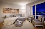 Inside the elegant two-bedroom model at Crystal Point