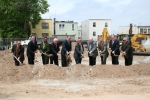 Jersey City officials, state and federal dignitaries and local civic and business leaders join developer Franklin Development Group to break ground on Margaret S. Herbermann Manor which will bring new affordable and workforce housing units to the Heights section of Jersey City, NJ.