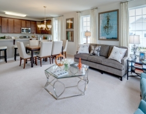 A MODEL INTERIOR AT LENNAR'S RIVER WALK