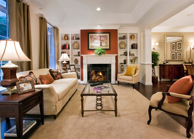 Completion of new construction activity at palmer square for Living room with 10 foot ceiling