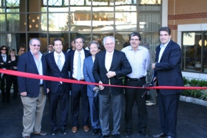 Officials from the Borough of Fort Lee and developer BNE Real Estate Group Cut the Ribbon on Twenty50, the 194-unit luxury apartment building at 2050 Central Road, near the George Washington Bridge. From left to right: Doug Sugarman, Fort Lee Planning Board; Jonathan Schwartz, BNE Real Estate Group; David Pantirer, BNE Real Estate Group; Alan Pines, BNE Real Estate Group; Larry Pantirer, BNE Real Estate Group; Howard Schwartz, BNE Real Estate Group; and Mark Sokolich, Mayor of Fort Lee.