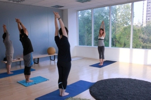 YOGA EVENT AT TRIO IN PALISADES PARK