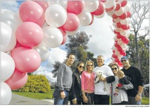 The Abramson family — son-in-law David Symons, daughter Heather Symons, parents Lisa and Andrew Abramson, daughter Lauren Mirman, with 8-month-old son Ryan and husband Matthew — attended Sunday's Salons for the Cure walkathon at Verona Park in Verona. The event was held to raise funds for the Cure Breast Cancer Foundation, a charity organized by the family to support researchers at Memorial Sloan-Kettering Cancer Center in New York. Lisa Abramson is a breast cancer survivor.