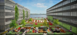 ENTER YOUR URL: Ironstate Development is transforming Stapleton's erstwhile naval base into a mixed-use project (its courtyard above) called Urban Ready Living.