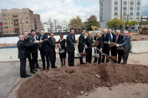 Groundbreaking ceremony for Journal Squared, a three-tower, mixed-used development adjacent to the Journal Square PATH station in Jersey City on Tuesday, Oct. 21, 2014. Reena Rose Sibayan | The Jersey Journal