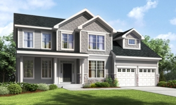 A rendering of single-family home at Baker Residential's The Hills at Roosevelt Woods