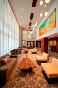 The lobby of Twenty50 in Fort Lee, NJ