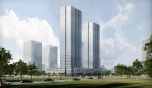 Rendering of 33 Park Avenue in Jersey City, NJ