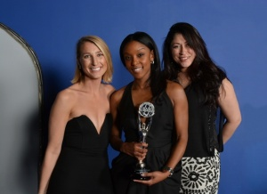 From L to R: BNE Real Estate Group's Kristina Hedden, Antisha McFadden and Danira Crespo at the 2015 SAM Awards.