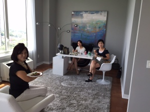Meil Lee, Jin Park and Wha Sook Kim from Top Realty.