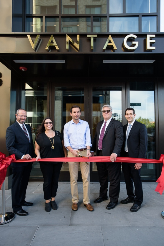 (From Left to Right): Marcos Vigil, Deputy Mayor of Jersey City; Annisia Cialone, Jersey City Planning Director; Steven Fulop, Jersey City Mayor; and Brian Fisher and Casey Fisher of Fisher Development Associates.